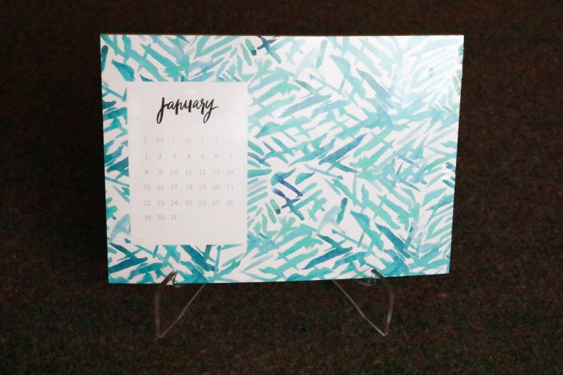 lifestyle subscription box unboxing calendar hand painted floral