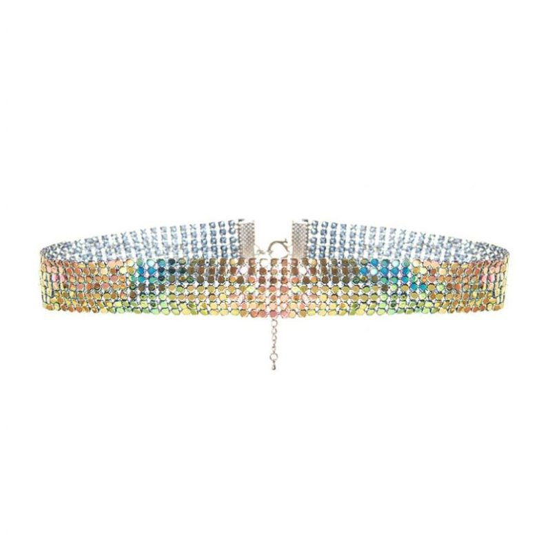 Multi Color Chain Mail Choker, $13.26