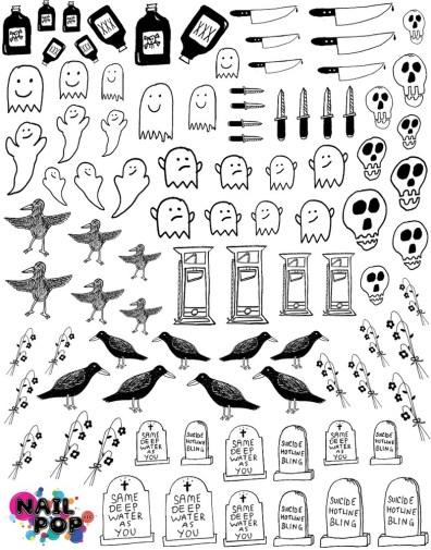 Nail Pop Decals - Death II Graphics