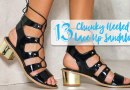 13 Affordable Lace-Up Sandal Boots with Block Heels