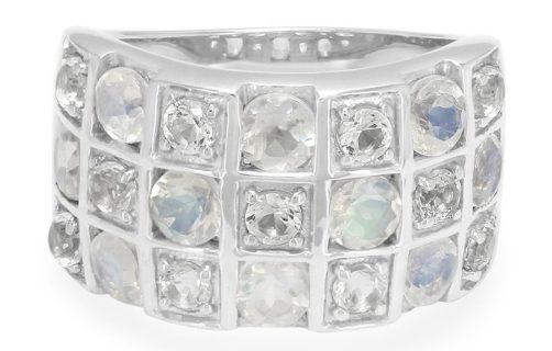 Rainbow Moonstone Ring, $49