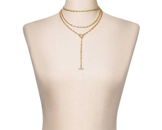 SUGARFIX Gold Layered Necklace with Charm, $19.99