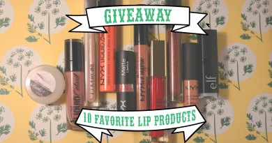 The Post Where I Give Away My 10 Favorite Lip Products
