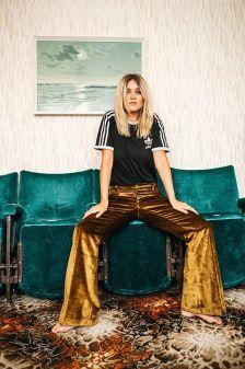 UO Gold Velvet Pants