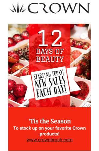 Crown Brush 12 Days of Beauty