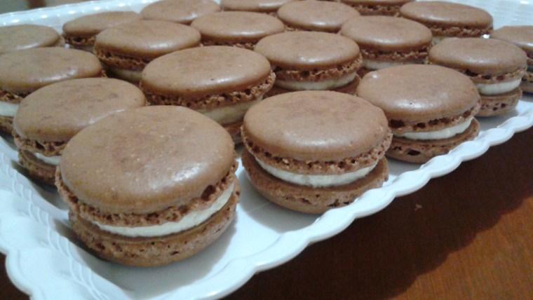 Chocolate Coquito Macarons