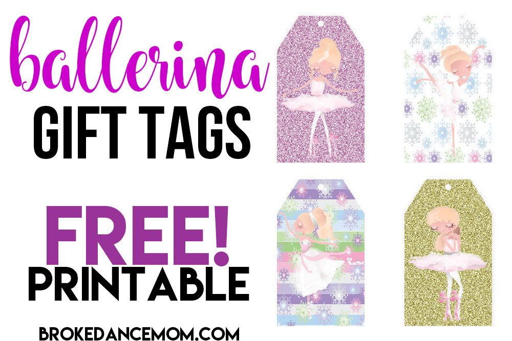 photo relating to Printable Gift Tages named Cost-free Printable Ballerina Reward Tags - BROKE DANCE Mother