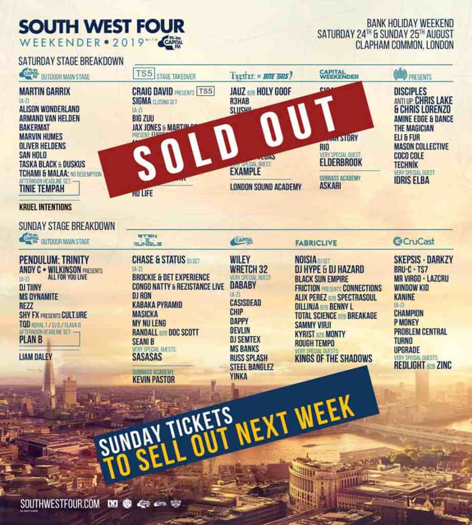 South West Four Weekender 2019 - Sunday tickets still available