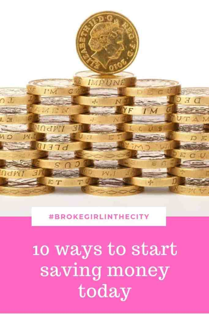 10 ways to start saving money today
