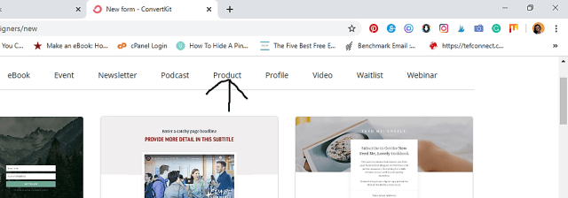 products template to make better sales online