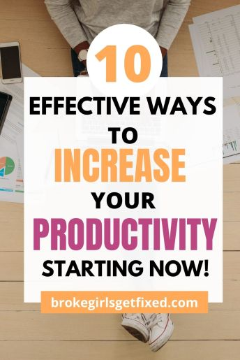 ways to increase your productivity