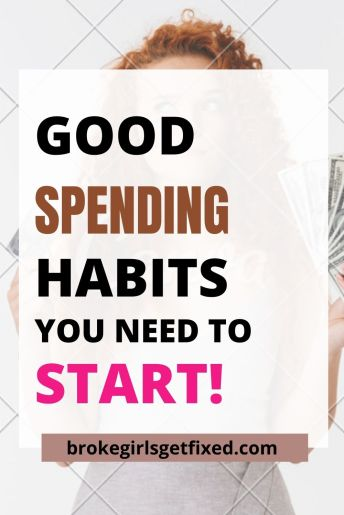 good spending habits you need to start