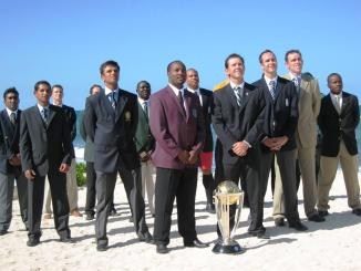 Photo of all the 16 captains from the 2007 Cricket World Cup