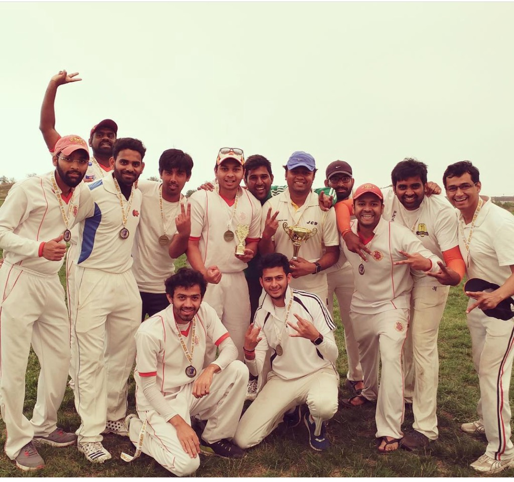 Team photo after winning with Avinash