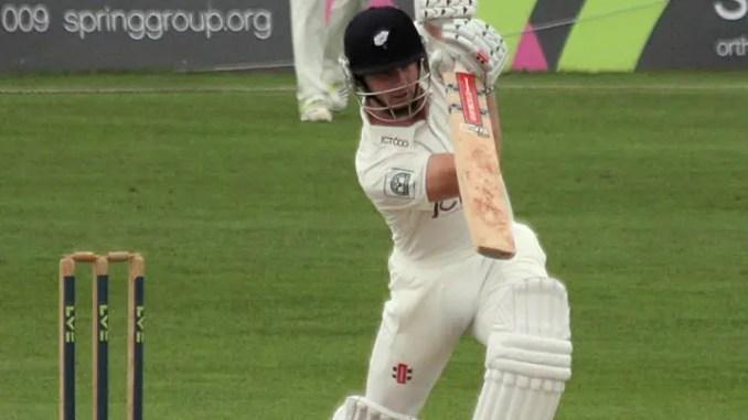 Photo of Kane Williamson driving the ball
