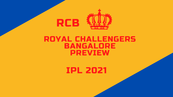 Royal Challengers Bangalore Preview Banner