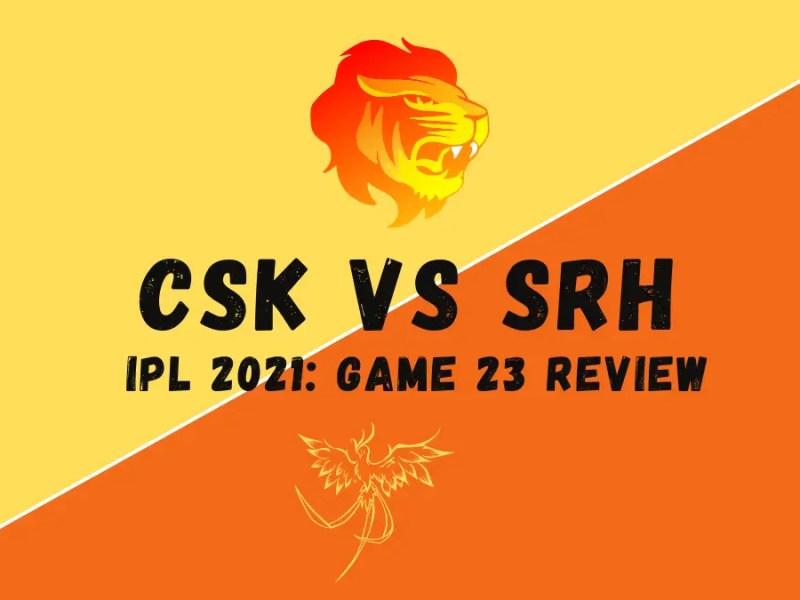CSK Vs SRH Graphic