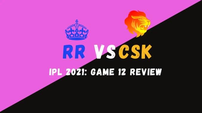 CSK Vs RR Graphic
