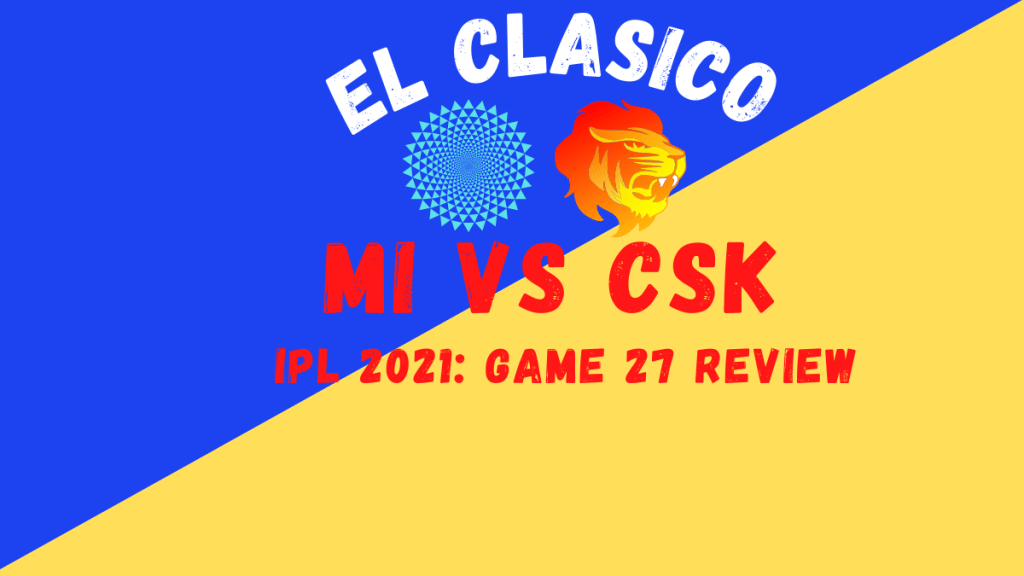 CSK Vs MI Graphic