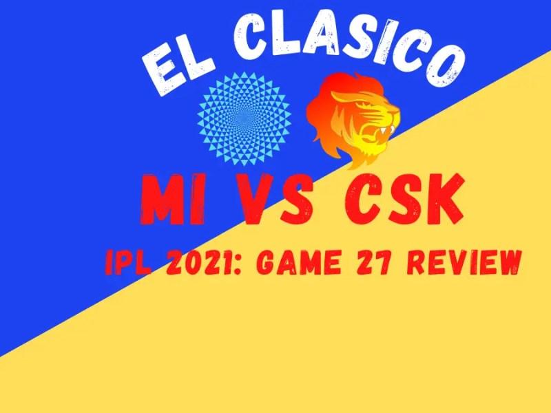CSK Vs MI Graphic