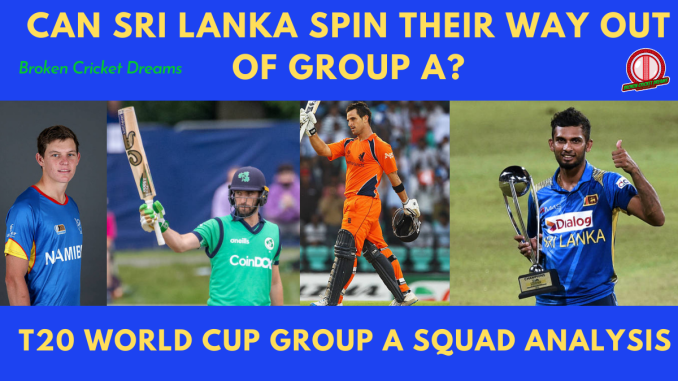 Group A 2021 T20 World Cup Squads: Picture of captains Erasmus, Balbirnie, Shanaka, and Dutchmen Ryan Ten Doeschate