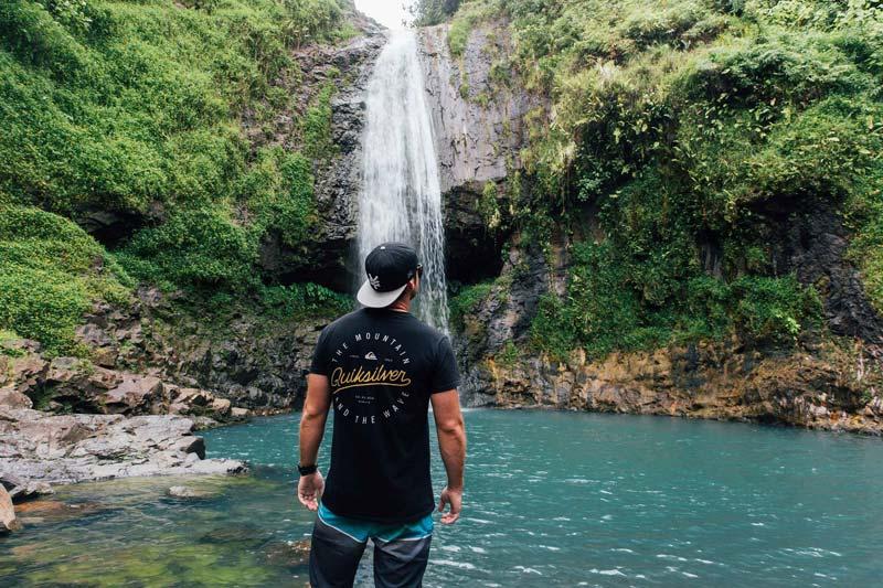 Islands of Tahiti Waterfall Standing