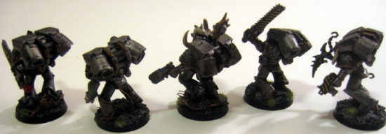 Iron Warrior Raptors (left)