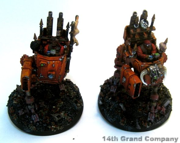 Two traitor guard scout sentinels armed with missile launchers