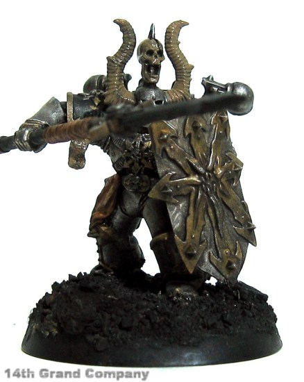How I paint Iron Warriors, Part 3: Bone, Step 1: Khemri Brown