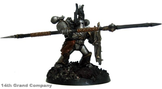 How I paint Iron Warriors, Part 2: Leather, Step 1: Vermin Brown