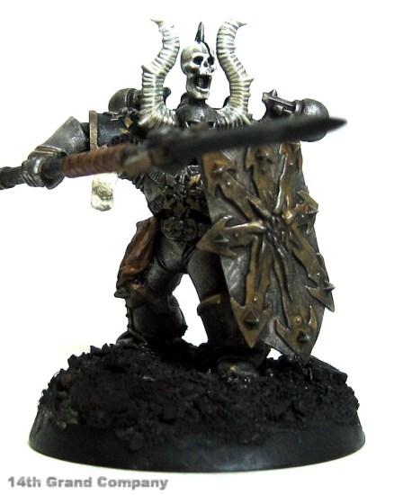 How I paint Iron Warriors, Part 3: Bone, Step 5: Skull White