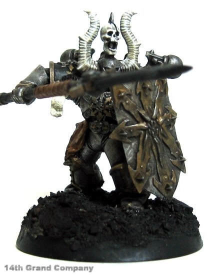 How I paint Iron Warriors, Part 3: Bone, Step 5: Skull White