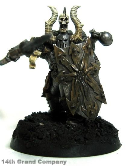 How I paint Iron Warriors, Part 3: Bone, Step 6: Gryphonne Sepia Wash