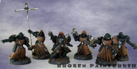 Fallen Angels Chaos Space Marines - Group WIP 1