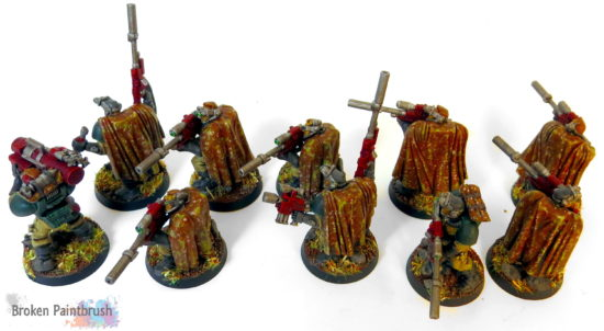 Mentor Legion Scout Squad with camo cloaks