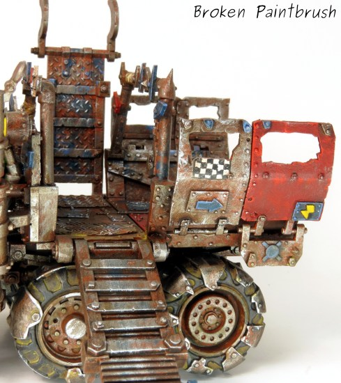 Ork Trukk left side closeup