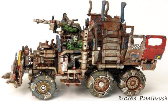 40k Ork Trukk left side