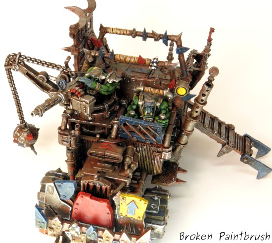 40k Ork Trukk top view