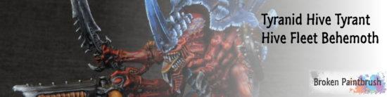 Tyranid Hive Tyrant of Hive Fleet Behemoth Banner