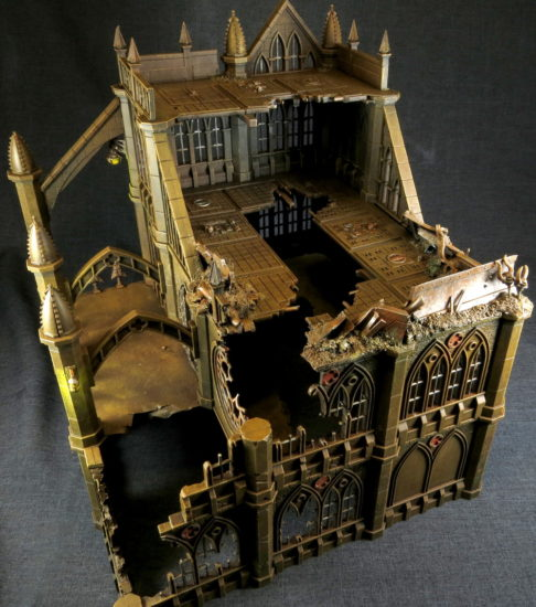 A large Pegasus Gothic Buildings for 40k
