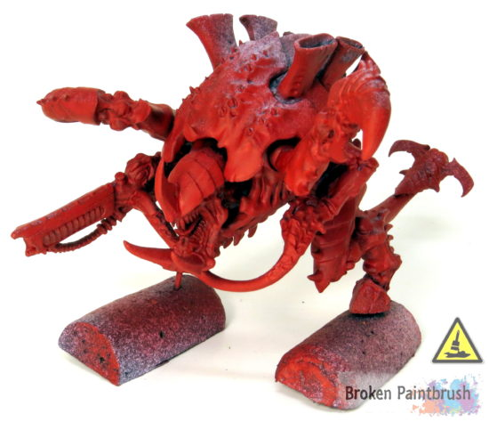 How to Paint a Carnifex Base Red
