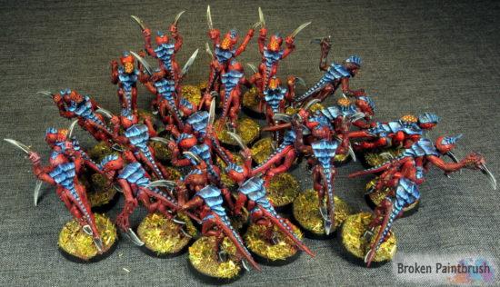 Tyranid Hormagaunts of Hive Fleet Behemoth