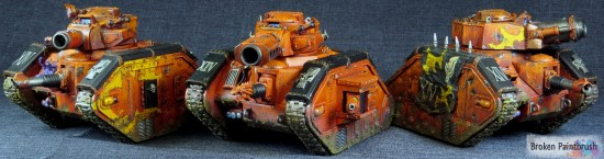 Traitor Guard Leman Russ Demolisher Squad