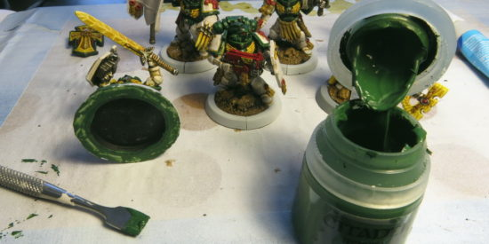 25mm to 32mm Conversion Ring  adding in green stuff