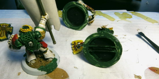 25mm to 32mm Conversion Ring adding greenstuff