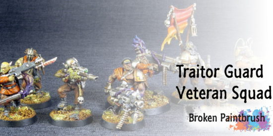 Broken Paintbrush Traitor Guard Veteran Squad