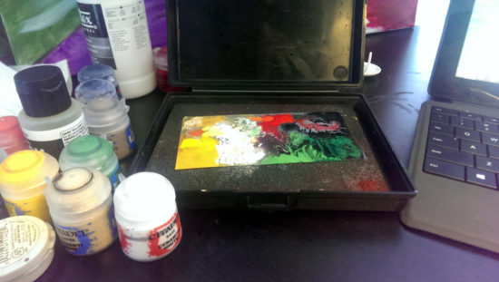 Using a Wet Palette