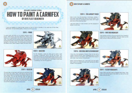 Golden D6 Review of How to Paint a Carnifex