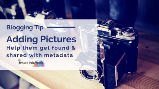 Adding pictures metadata so they get found and shared