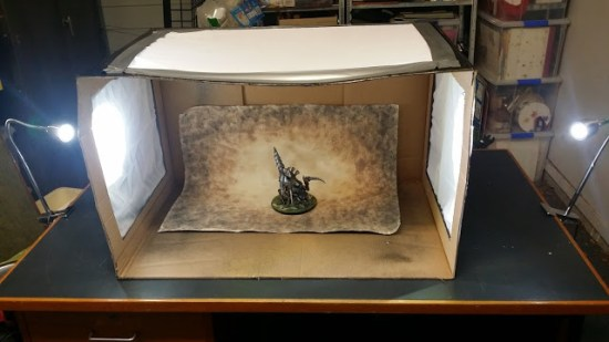 Building a light box from cardboard